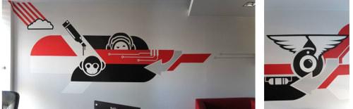 Murals by Marek Looney Rybowski seen at Nokaut Pl, Gdynia - Mural (office)