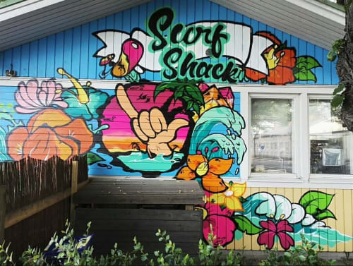 Murals by Hocus pocus - dart165 seen at Surf Shack Bar, Turku - Wall Mural
