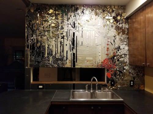Art & Wall Decor by Kate Jessup seen at Private Residence, Seattle - Seattle Kitchen Mosaic
