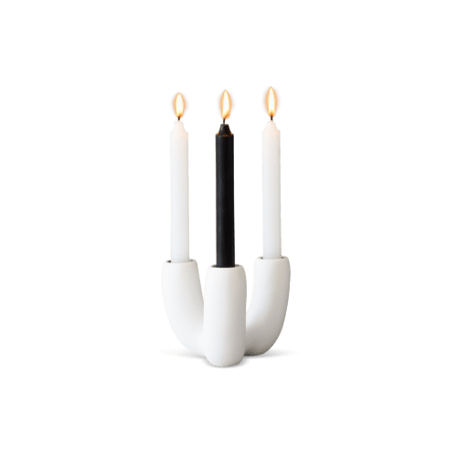 Art & Wall Decor by Tina Frey seen at Wescover Gallery at West Coast Craft SF 2019, San Francisco - Anemone Candle Holder - Black