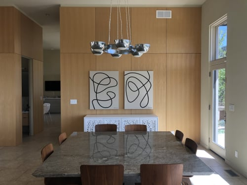 Paintings by Nikita Coulombe seen at Private Residence, Boulder - Wind Up and Untethered