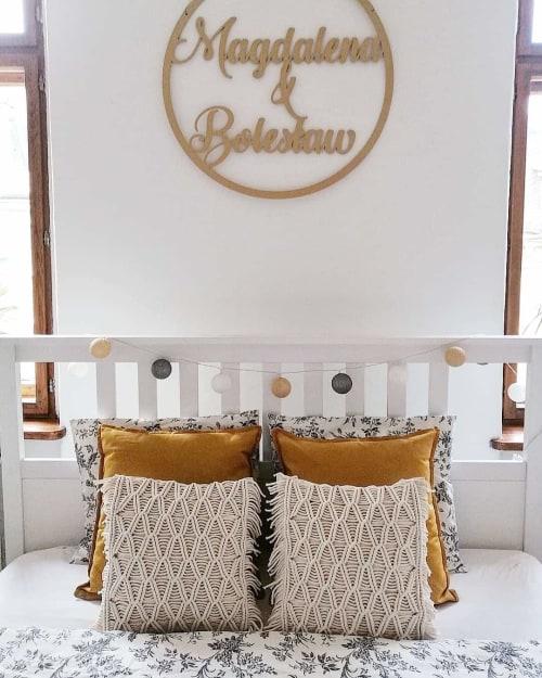 Pillows by Sploty_makrama seen at Private Residence, Miastko - Macrame pillows