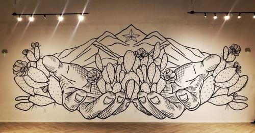 Murals by Christin Apodaca seen at Vino Nuevo El Paso, El Paso - Mural (Cactus)