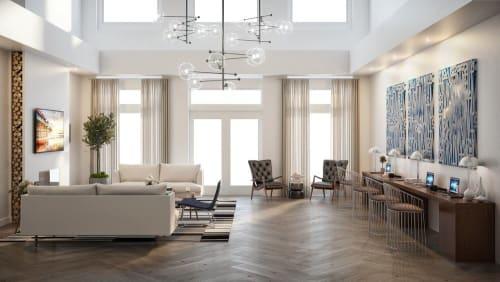 Interior Design by Jordan Shields Design seen at Allure at Camarillo Apartment Homes, Camarillo - Interior Design