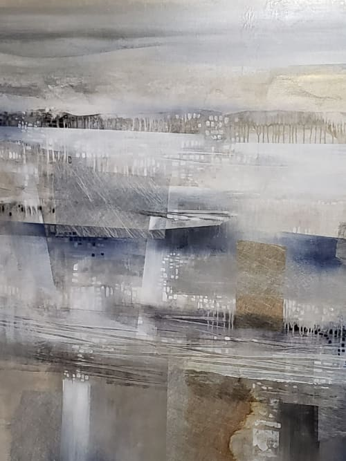 Paintings by K.Nari Art Studio seen at Hyde Park Interiors, Scottsdale - Abstract, Platinum Symmetry