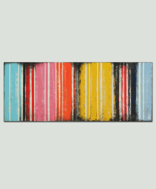 Paintings by Ronald Hunter seen at Roxier Art Gallery, Rotterdam - Colors on Colors
