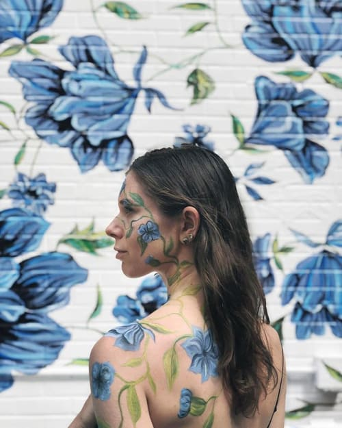 Body Art Matching To Mural By Surface Of Beauty Seen At Yumi Kim New York Wescover