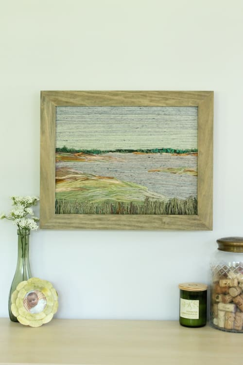 Wall Hangings by Jes Zange Art seen at Private Residence, Buffalo Grove - Everyday Charleston