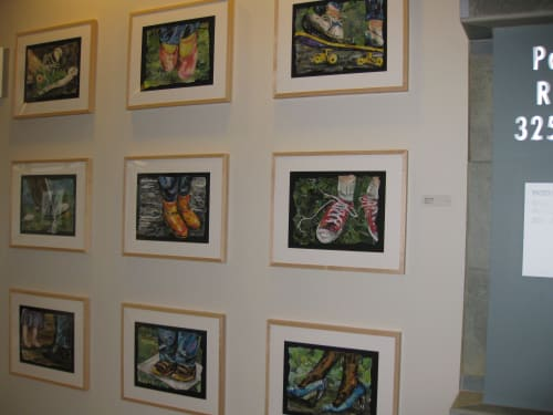 Paintings by Eileen Downes seen at Kaiser Permanente Dale Road Medical Offices, Modesto - Stepping Up Series