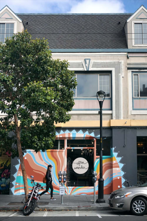 Murals by Celeste Byers seen at Often Wander, San Francisco - Storefront Mural