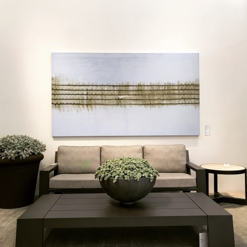 Paintings by Todd Williamson contemporary artist seen at David Sutherland Showroom, West Hollywood - Williamson's Artworks Installed