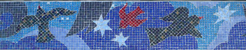 Public Mosaics by Deirdre Saunder seen at Glenmont, Wheaton-Glenmont - Sparrows and Stars, 2000