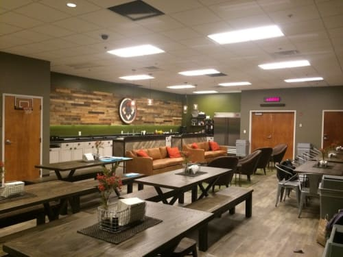 Interior Design by Thiesen Interiors at North Point Community Church, Alpharetta - NPCC Green Room