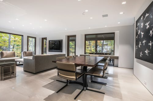 Tables by Rohan Ward seen at Private Residence, Winnetka - Dining Table