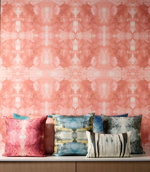 Wallpaper by Michelle Dirkse seen at Michelle Dirkse Interior Design & Home Decor, Seattle - MIRROR PEACHY PINK  Wallpaper