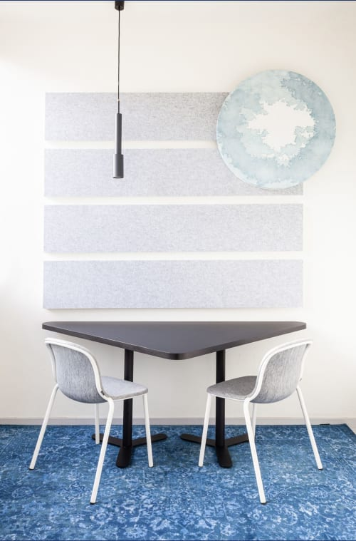 Art & Wall Decor by Studio Mieke Lucia seen at Nieuwe Achtergracht 17, Amsterdam - FLOW acoustic wall composition
