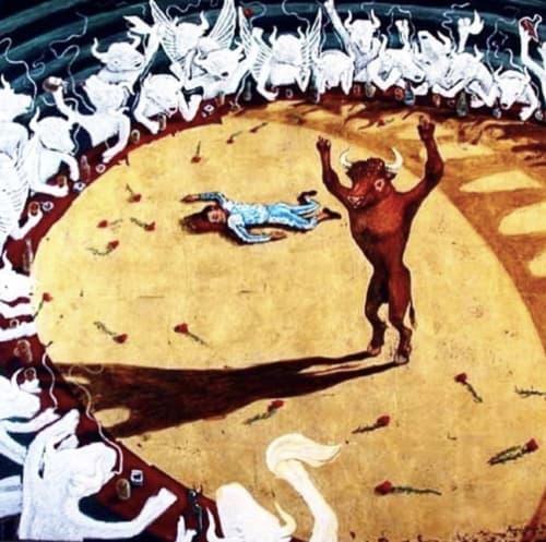 Paintings by Andres García-Peña Art seen at Private Residence, New York - Bulls' revenge