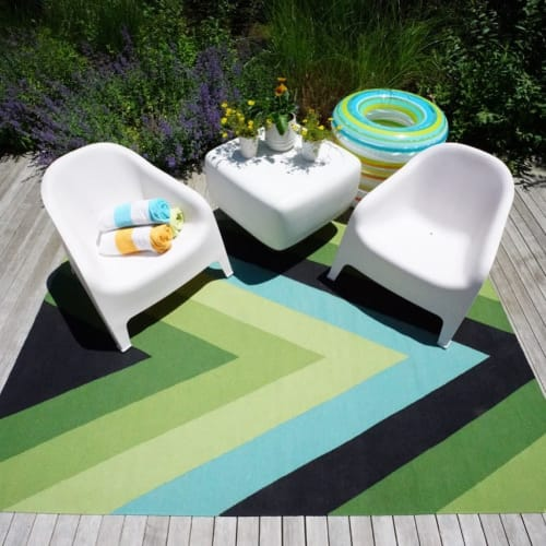 Rugs by Lucy Tupu Studio seen at Private Residence, Quogue - Quogue-Pool Patio