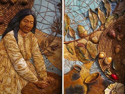 Street Murals by Betsy K. Schulz seen at The Barona Band of Mission Indians, Lakeside - Two Sculptural Murals