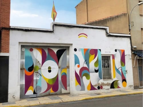 Street Murals by Jesus Moreno Yes seen at La Bañeza, La Bañeza - Wall Mural