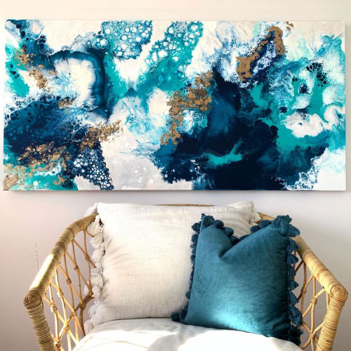 Paintings by Jes Velios seen at Private Residence, Sydney - Pouls De La Mer ~ Pulse of the Sea