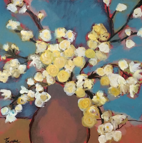 'Spring' mixed media acrylic painting | Paintings by Terry Scopes Art