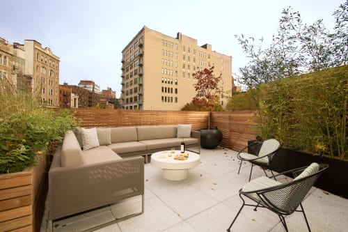 Interior Design by Michael Wood Interiors at Private Residence, New York - West Village Terrace