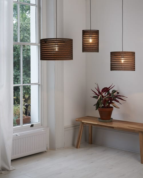 Pendants by Tabitha Bargh seen at Private Residence, London - CartOn Stripe