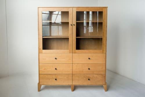 Furniture by Studio Moe seen at Creator's Studio, Portland - Pacific Curio Cabinet in American Cherry