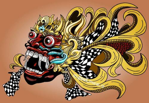 Bali mural id - Murals and Paintings