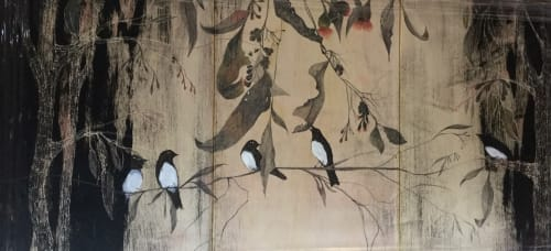 Paintings by Julianne Ross Allcorn ARTIST seen at Private Residence, Sydney - Serenading from the wings