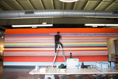 Murals by Nathan Brown seen at Private Residence, Nashville - Stoke.d Agency mural