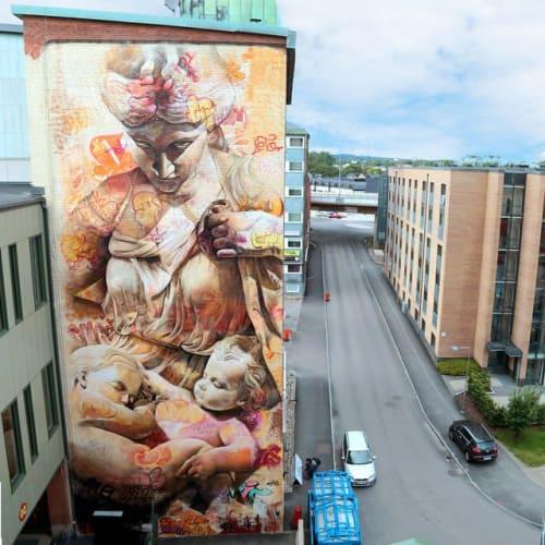 Street Murals by PichiAvo seen at Borås, Borås - PichiAvo Wall in Boras