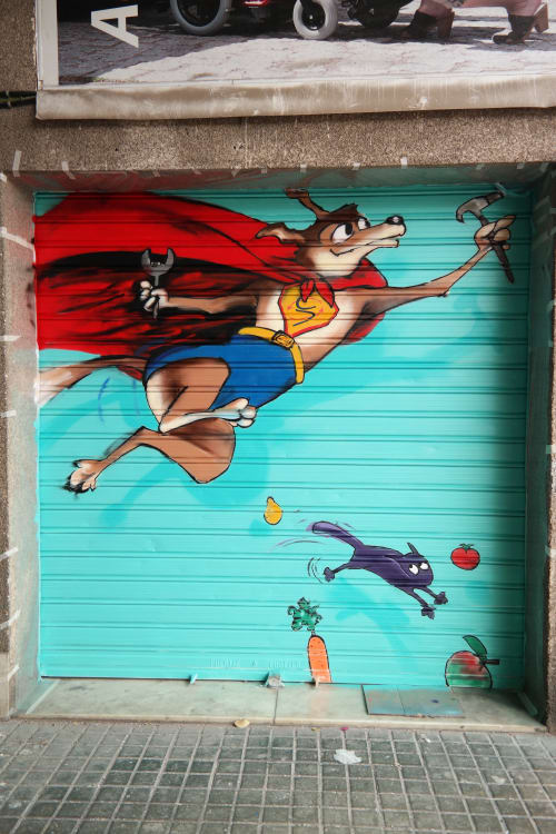 Murals by Laura9, Laura Tietjens seen at Carrer Gran de Sant Andreu, Barcelona - Valida2
