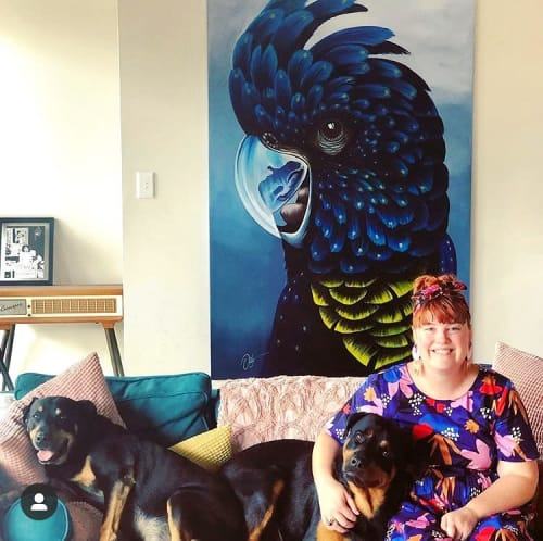Paintings by Chris Riley Art seen at Private Residence, Brisbane - Parrot
