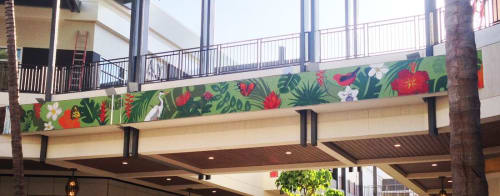Murals by A & T Cunha Mosaic seen at Ala Moana Center, Honolulu - Ke Aloha O Ka' Aina ( Love of the Land)