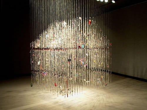 Sculptures by Virginia Fleck seen at Dougherty Arts Center, Austin - Wish House / Dream House