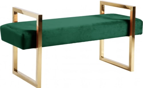 Benches & Ottomans by Meridian Furniture seen at Charlotte, Charlotte - Olivia Velvet Bench