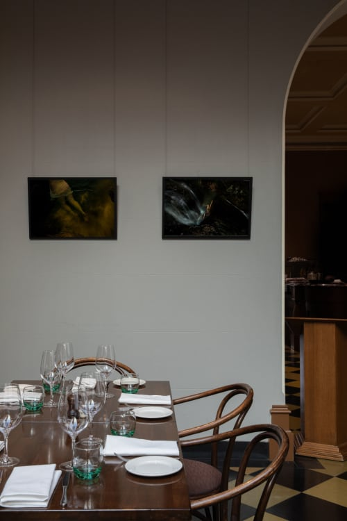 Photography by Lilli Waters seen at Craig's Royal Hotel, Ballarat East - Female figure in water