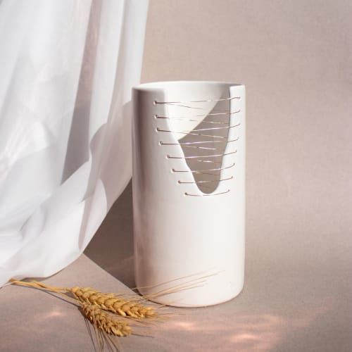 Vases & Vessels by Ayadee Studio seen at New York, New York - Ava Cylinder Vase
