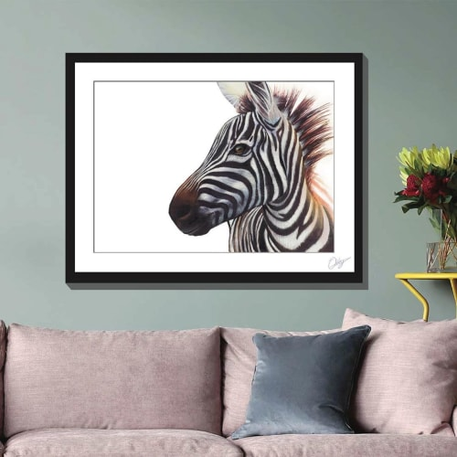 Paintings by Chris Riley Art seen at Private Residence, Brisbane - Zebra