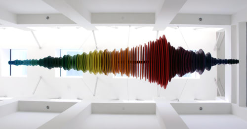 Sculptures by MJO Studios at Private Residence, Los Angeles - Space Rainbow