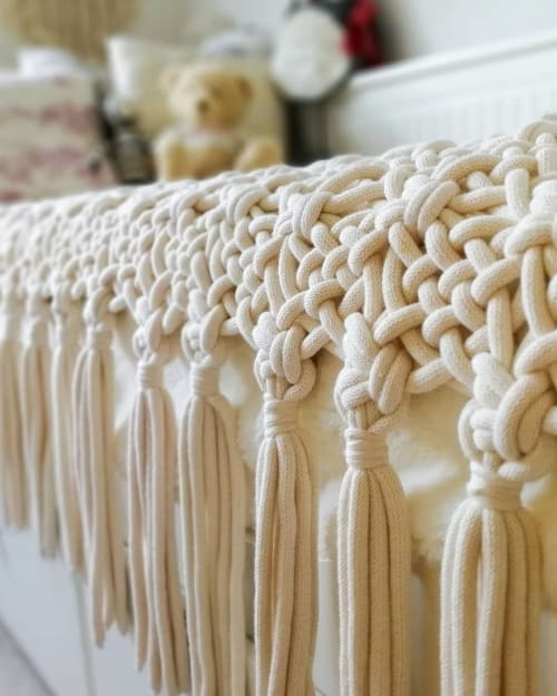 Macrame Wall Hanging by Cloves&Berries seen at Creator's Studio, London - Bed runner and macrame wall hanging