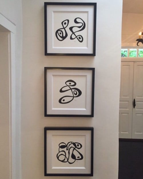 Paintings by Steve McElroy seen at Private Residence, Santa Fe - Black and White Series
