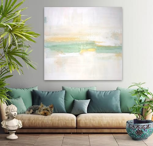 Paintings by Linnea Heide contemporary fine art seen at Private Residence, Selangor - 'TERRA FiRMA' original abstract painting by Linnea Heide