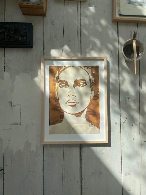 Murals by tinystories seen at Private Residence, Utrecht - Ochre