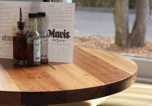 Tables by Yard Furniture at Mavis the Grocer, Abbotsford - Round Tables
