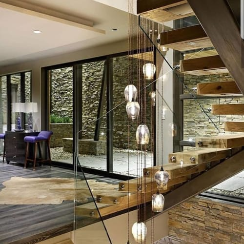 Chandeliers by Remark Glass seen at Private Residence, Aspen - Chandelier