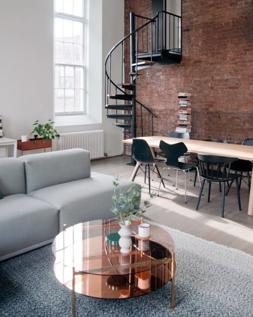 Tables by YIELD seen at Private Residence, New York - Duotone Circular Coffee Table