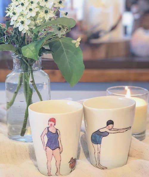 Utensils by Helen Beard Ceramics seen at SISTER・MARKET, Setagaya City - Swimmer beakers